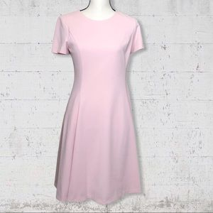 DKNY Pink Short Sleeve Fit and Flare Dress SZ 4